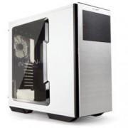 Кутия In Win 707, ATX, бяла с черен кант, прозорец, USB3.0, без захранване