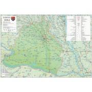 Harta Judetului Dolj 100x70 cm sipci plastic