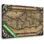 Ortelius világtérképe, 1564 (35x25 cm, Vászonkép )