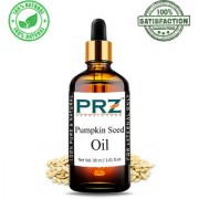 PRZ Pumpkin Seed Cold Pressed Carrier Oil (30ML) - Pure Natural & Therapeutic Grade Oil For Aromatherapy Body Massage Skin Care & Hair ReGrowth