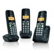 Siemens Gigaset A220 Telefone Dect Trio Preto
