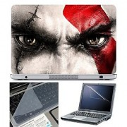 FineArts Laptop Skin 15.6 Inch With Key Guard & Screen Protector - Red Mark on Eye