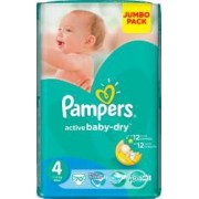 Scutece Pampers Active Baby 4 Maxi Jumbo Pack 70 buc