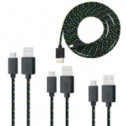 Cablu Date si Incarcare Micro Usb Cablu Panza Culoare Negru pt Telefon Tableta