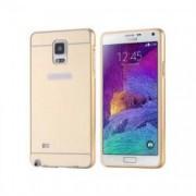 Husa Bumper Aluminiu Mirror iberry Auriu Pentru Samsung Galaxy Note 4