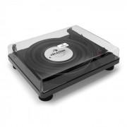 Auna TT Classic BK Retro-Plattenspieler USB Line-Out Lautsprecher Piano-Schwarz