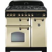 Rangemaster CDL90DFFCR/B Classic Deluxe Cream 90cm Dual Fuel Range Cooker