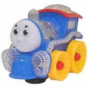 BABY 3D LIGHT MUSICAL FUNNY LOCO TRAIN (Multicolor)