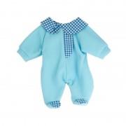 Pijama salopeta bleu pentru papusi 38 42 cm