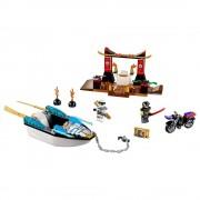 Lego persecución en la lancha ninja de zane lego juniors 10755