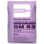 DURAZIV GM 53 PASTA DE CHITUIRE GIPS-CARTON SI GLET ALB DE FINISAJ 20KG