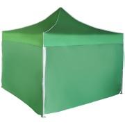 Gyorsan összecsukható sátor 3x3 m - alumínium, Zöld, 4 oldalfal