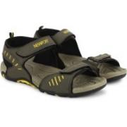 Newport Men Black/Olive Sports Sandals