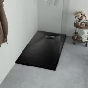 vidaXL fekete SMC zuhanytálca 120 x 70 cm