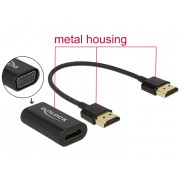 DeLock Adapter HDMI-A male > VGA female Metal Housing with 15cm cable 65667