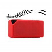 Shuua X3 Mini Altavoz Bluetooth TF USB FM Radio Inalámbrico Portátil Caja De Sonido De Música Altavoces Subwoofer Con Micrófono (Rojo)