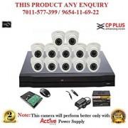 Cp Plus 1 MP HD 16CH DVR + Cp plus HD DOME IR CCTV Camera 12Pcs + 1TB HDD + POWER SUPLAY + BNC + DC CCTV COMBO