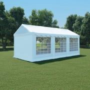 vidaXL Pavilion grădină, alb, 3 x 6 m, PVC