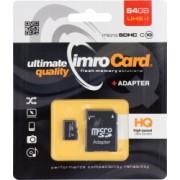 Card de memorie Imro HC UHS-I class10 Micro-SD 64 GB Negru