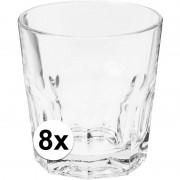 Merkloos Drink glas 8 stuks