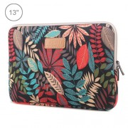 Lisen 13 inch Sleeve Case Ethnic Style Multi-color Zipper Briefcase Carrying Bag For Macbook Samsung Lenovo Sony DELL Alienware CHUWI ASUS HP 13 inch and Below Laptops(Black)