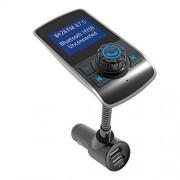 Mooremastle Car MP3 Hansfree Radio FM Puertos duales Cargador USB Reproductor de música Plateado