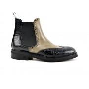 DIS - Design Italian Shoes Luciano - Stivale deco oliva e stampa cocco