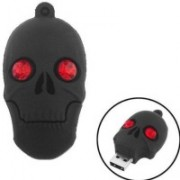 Quace Black Skull 8 GB Pen Drive(Multicolor)