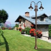 LIBERTI LAMP linea GARDEN Dione Nero Palo Lampione Classico In Alluminio Per Esterno Giardino