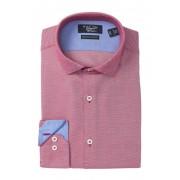 Original Penguin Diamond Heritage Slim-Fit Dress Shirt DARK RED DOBBY