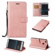 BLCR Elephant Pattern Wallet Funda para Huawei P9 Lite - Oro Rosa