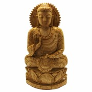 Buddha Invatatorul (Teaching Buddha) - Statueta din Lemn - 26x14x5 cm