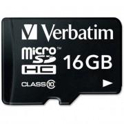 Memorija micro SD 16GB Verbatim Class 10, UHS-I 44082
