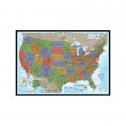 Hartă SUA politică decorativă, laminată National Geographic