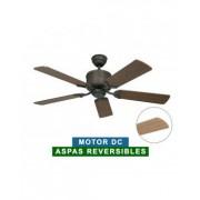 CasaFan Ventilador De Techo Casafan 513283 Eco Elements 132 Nogal O Haya/marrón Clásico Y Bronce