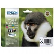 ORIGINAL Epson Multipack nero / ciano / magenta / giallo C13T08954010 T0895 4 cartucce: T0891 + T0892 + T0893 + T0894