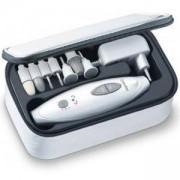 Комплект за маникюр и педикюр Beurer MP41, 7 накрайника, LED светлина, Несесер за съхранение