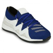 Karnaaz Men's Blue & White Mesh Running Sport Shoes