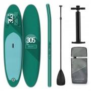 KLARFIT Spreestar tabla para surf de pala hinchable Set de tabla para SUP 305 x 10 x 77 Turquesa (WTR1-Spreestar GN)