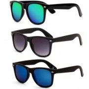 Dannilo Wayfarer Sunglasses(Blue, Black, Green)
