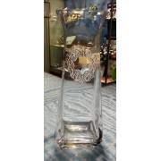 Vaso cristallo e argento