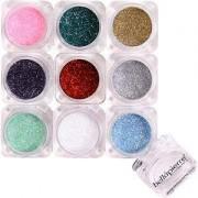Bellápierre Cosmetics Make-up Eyes 9 Stack Shimmer Powder Pandera 15,75 g