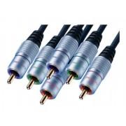 HC400-1000 CABLE VIDEO 3 RCA MACHO A 3 RCA MACHO 10m.*