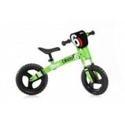 """Bicicleta pentru copii fara pedale Balance bike Runner Verde neon Dino Bikes Made in Italy cu roti de 12"""""""