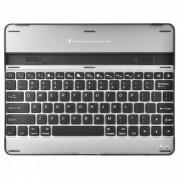 universal inalambrico bluetooth v3.0 teclado de 82 teclas para ipad 4/3/2 - negro + plata