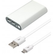 Batería externa para dispositivos móviles 5V 7500mAh (carga lenta 5Vcc1000mAh y carga rápida 5Vcc 2100mAh