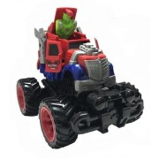 Emob Stunt Car Bounce Open Wind Speed Transformer Robot Car Gift Toy with Door Opening (Red)
