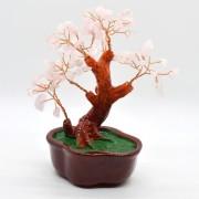 Copac in ghiveci cu pietre de cuart roz - 16cm