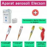 Aparat aerosoli cu ultrasunete (EL009) + Termometru digital Elecson