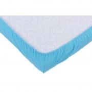 Set 2xCearceaf cu elastic pt patut de 120x 60 cm bleu+verde